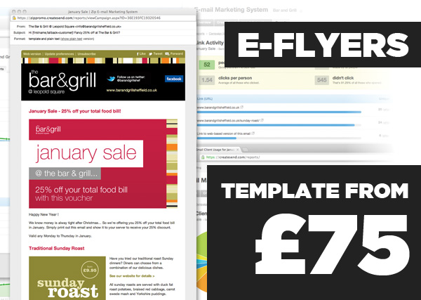 E-Flyer Templates - from £75