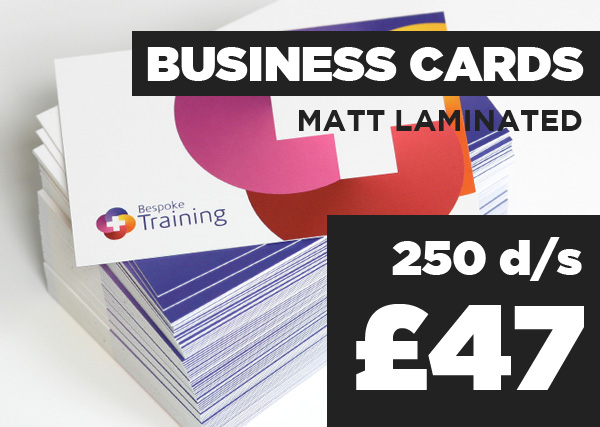 Matt Laminated Business Cards - 250 d/s - £47